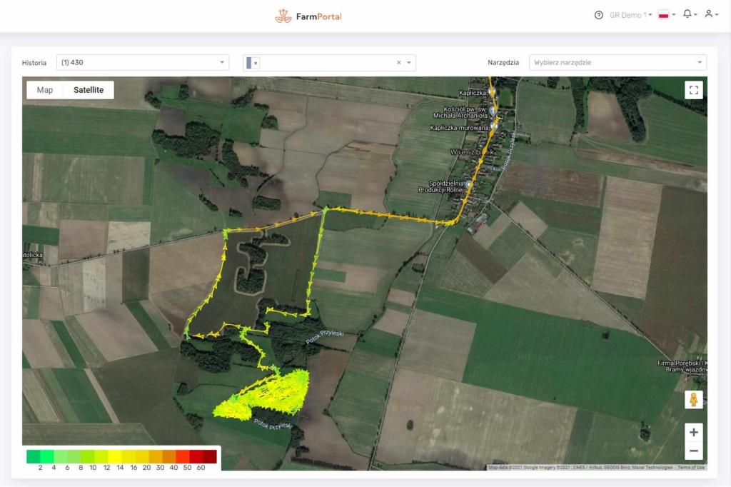 Monitoring GPS pojazdów rolniczych